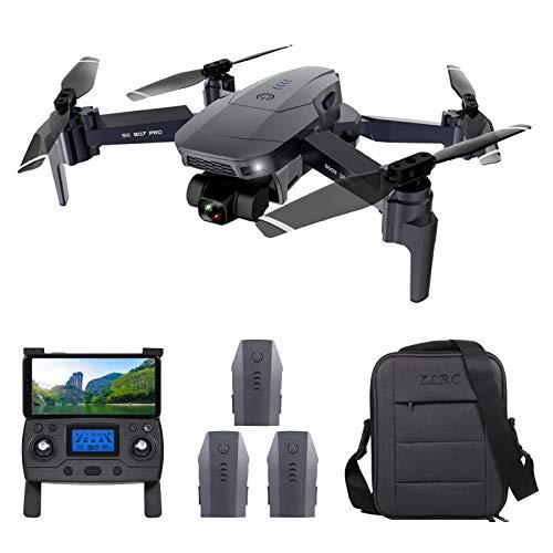 Irfora Drone RC, ZLL SG907 PRO GPS Drone RC con Fotocamera 4K Gimbal 2 Assi 5G WiFi FPV Posizionamento del Flusso Ottico Quadcopter Punto di Interesse Waypoint Volo con 3 Custodia per