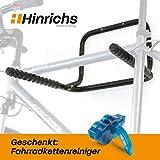 Hinrichs Support Mural Velo - Support Velo Mural pliable pouvant accueillir jusqu'à 3 vélos (max. 55 kg) - nettoyeur de chaîne inclus gratuitement