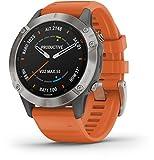 Orologio Garmin Fenix 6 Sapphire Smartwatch Silicone Arancione 47mm 010-02158-14