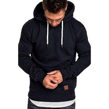SANFASHION 2020 Christmas Men Jumper Hoodie Casual Slim-Fit Basic Round Neck Oversize Shirt Pullover Sweat Jacket Tops Pullover Breathable Hooded Sweatshirts Top Long Sleeve T Shirt Outwear