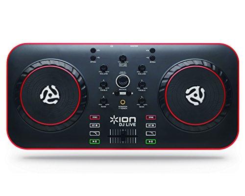 ION Audio DJ Live, Consolle DJ MIDI / USB Compatta e Portatile con Software Virtual DJ Lite per Mac e PC