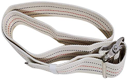 Transfer Gait Belt with Metal Buckle 1 Loop Handle Beige 60 inches. Available 1 Loop Handle: Beige 72', Black 60', 72', Pink 60'