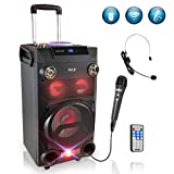 Pyle Outdoor Portable Wireless Bluetooth Karaoke PA Loud speaker - 8''...