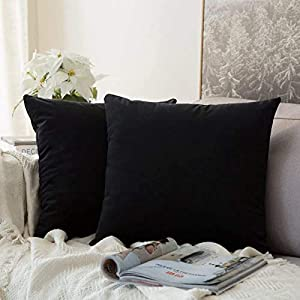 Size: Including two pieces of 12 x 12 inch pillow covers. COVERS ONLY.Please allow 1~2cm deviation because of hand-cutting and sewing. Material: Made of premium velvet, super plush and soft. Irresistably comfortable, skin-friendly for kids and pets. ...