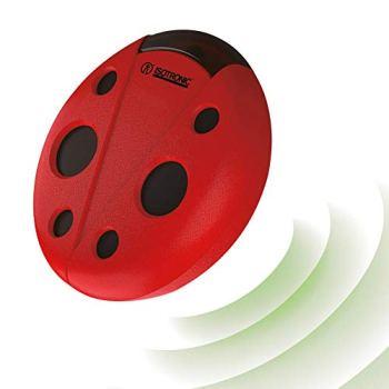 ISOTRONIC® Répulsif ultrasonique pour rats et souris Répulsif mobile pour rongeurs Répulsif pour animaux Répulsif pour souris à piles pour maison de jardin Cave et grenier Effrayer les souris sans produits chimiques