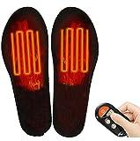 Qdreclod Semelles Chauffantes Rechargeables Sans Fil Télécommande USB Rechargeables électriques Semelles Pieds Semelle