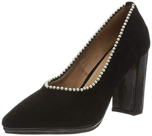 El Caballo Carmona, Zapato de tacón Mujer, Negro, 36 EU