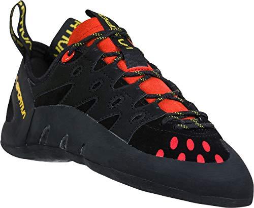 La Sportiva Men's Tarantulace Rock Climbing Shoes, Black/Poppy, 43