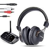 Avantree HT5009 40 Hrs Wireless Headphones for TV Watching w/Bluetooth Transmitter - Digital Optical...
