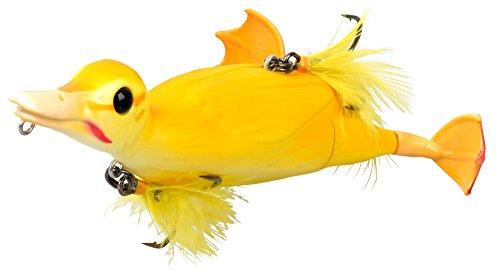 Savage Gear - Esca a forma di anatra 3D Suicide Duck Wobbler, esche per luccio, esche Wels, esche Waller, giallo