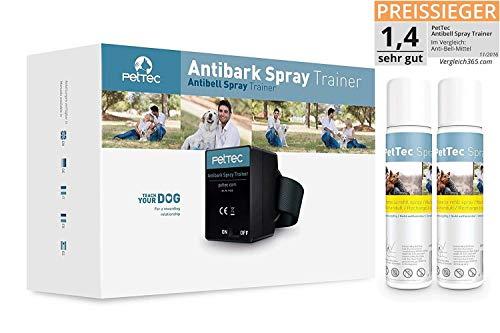 PetTec Antibell Spray Trainer Pro Erziehungshalsband mit automatischer Sprhfunktion inkl. Antibell Spray (citronella) + 2 Gratissprays