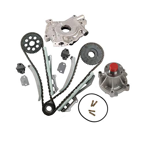 MOCA Timing Chain Oil Pump & Water Pump Kit for 1997-2001 Ford Expedition & Ford E-150 Econoline & Ford F-150 F-250 4.6L V8 Gas SOHC ROMEO Engine - W 6