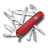 Victorinox Taschenmesser Huntsman (15 Funktionen, Schere, Holzsäge, Schraubendreher, Klinge, Korkenzieher) 91 mm