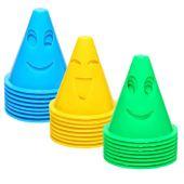 Amosfun Cones de Trânsito de Plástico 24 Unidades Cone de Treinamento Esportivo Define Cones de Marcação de Campo para Skate Futebol Treinamento de Agilidade Educação Física Flexível