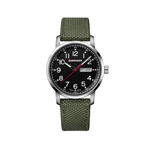 Wenger Unisex Erwachsene Analog Quarz Uhr mit Nylon Armband 01.1541.109