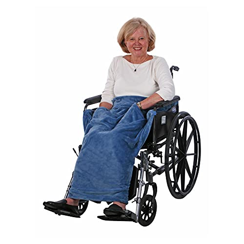 Granny Jo Products Lightweight Wheelchair Blanket, Wedgwood...
