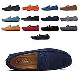 AARDIMI Mocassins en Daim Hommes Penny Loafers Casual Bateau Chaussures de Ville Flats 38-49 (38 EU, Z-Bleu)