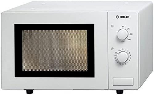Bosch HMT72M420 Serie 2 Freistehende Mikrowelle / 800 W / 17 L / Drehteller 24,5 cm / Türanschlag Links / Weiß