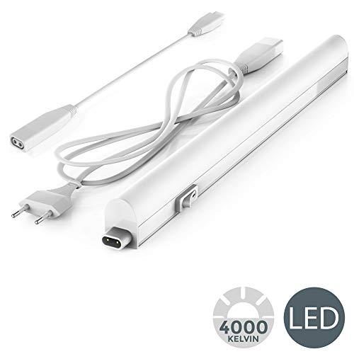 B.K.Licht LED Unterbauleuchte I Lichtleiste I 31.3cm I 4W I 400lm I 4.000K neutralweiß I erweiterbar durch Stecksystem
