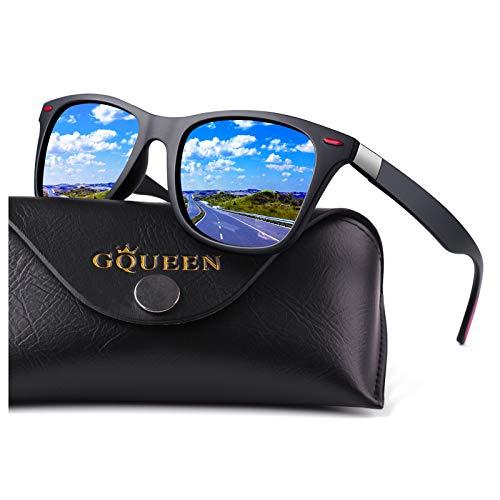 GQUEEN Gafas de Sol polarizadas hombre Mujere TR90 para Cond