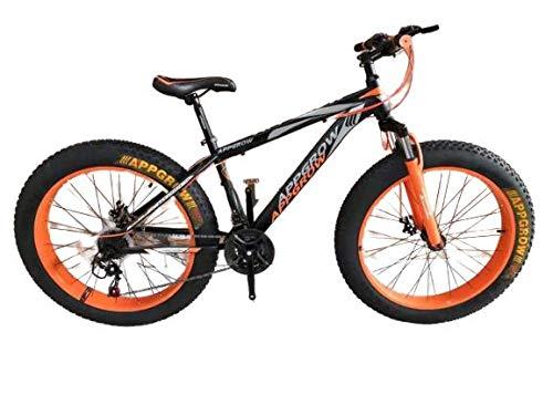 Appgrow-Orange Fat Bike Fat Tyre 21 Speed 26X4 inch tyre Size
