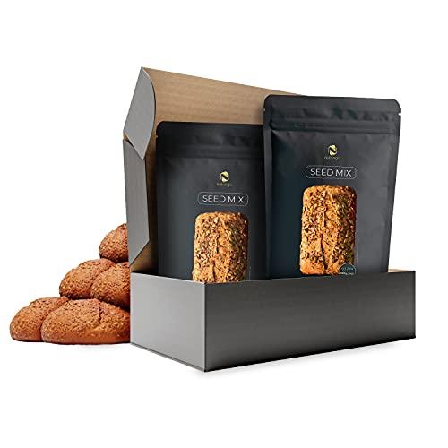 Seed Mix Mezcla para hornear pan de proteínas - paquete 9 panes | 4g. carbohidratos | Sin cereales | Sin gluten | Para Paleo, Keto, Low Carb y desarrollo muscular | para diabéticos | Edición Amazon
