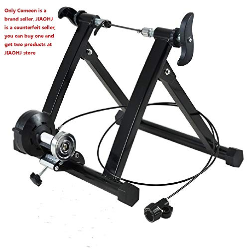 Comeon Bicycle Trainer Mountain Road Bike Portable Foldable Bicycle Trainer Indoor Bike Fitness Rack (24-28 inch mt02wired)