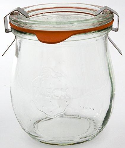 WECK - Barattolo di corolle, 220 ml, trasparente, confezione da 12