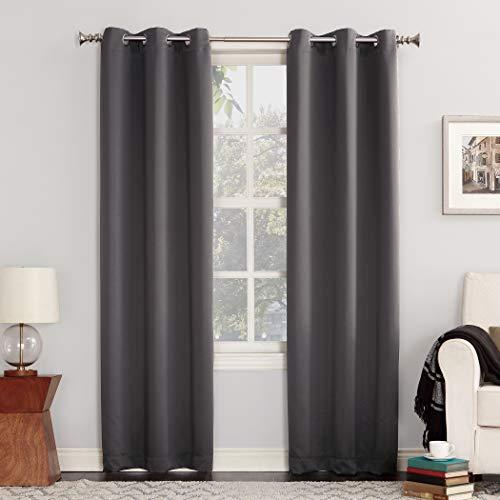 Sun Zero Easton Blackout Energy Efficient Grommet Curtain Panel,...
