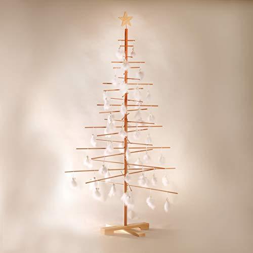 Xmas3 L Albero di Natale in Legno Naturale, 100 x 100 x 190 cm