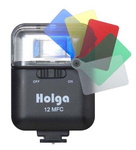HOLGA-12MQストロボ GN12 カラーフィルター内蔵ストロボ HOLGA12MFC