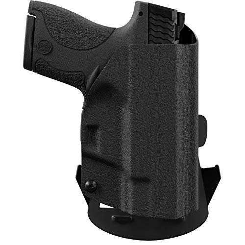 We The People - Black Right Hand Outside Waistband Concealed Carry Kydex OWB Holster Compatible with Glock 43/43X G43/43X w/Streamlight TLR-6 Light/Laser Gun