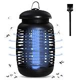 LEDGLE Piège à moustiques électrique - 15 W - 4200 V - Piège à moustiques - Étanche IP44 - Lampe à insectes avec lumière UV - Réducteur de vol pour...
