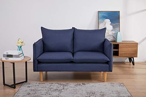 Marchio Amazon - Movian Keitele - Divano a 2 posti, 130 x 82 x 84 cm, blu