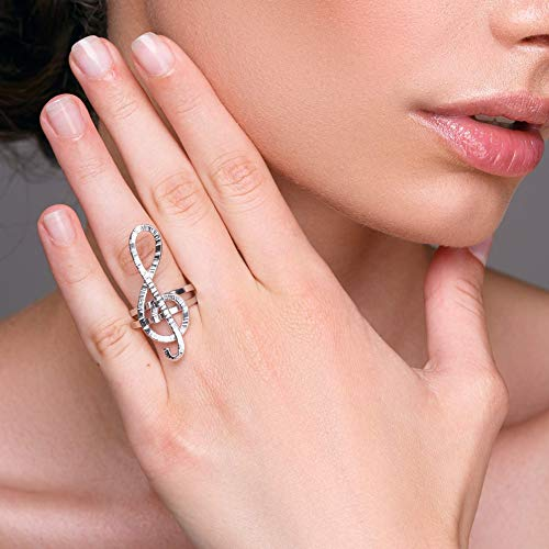 Treble clef ring, quirky ring, unusual ring, music teacher...