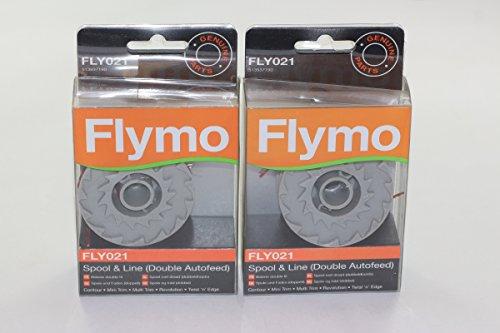 Flymo Originale Multipla Taglio 250d 250dx Motor Sense Bobina & Linea Doppia selbstl adend...