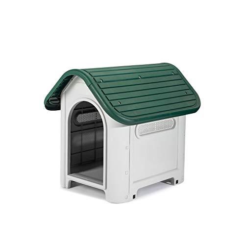 GARDIUN KZT1005 - Caseta de Perro Kira Resina 75 x 59 x 66 cm, Beige/Verde