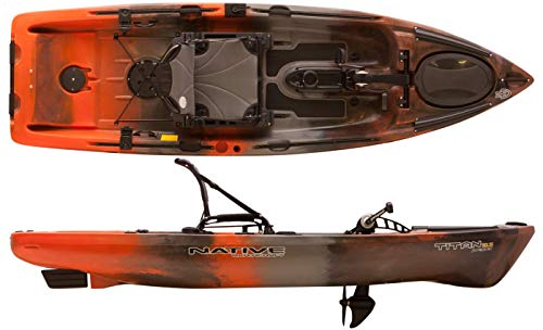 Native Watercraft 2019 Titan Propel 10.5 Pedal Fishing Kayak (Copperhead)