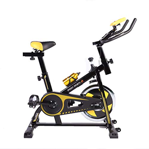 Buyer Empire Exercise Bike Indoor Cycling Stationary Bike 10KG Flywheel Ideal Cardio Workout Machine with LCD Display | Smartphone App | iPad Holder Home Gym Equipment Suitable For Everyone