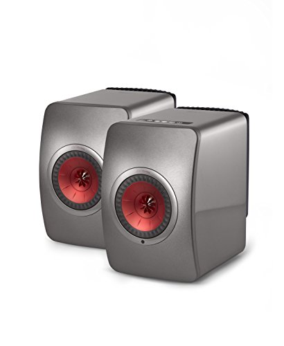 KEF LS50 Wireless Powered Music System (Gray, Pair)