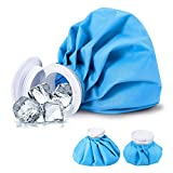 Ice Bag, Cold Pack Reusable Cold Bag Hot Water Bag for Injuries, Hot & Cold Therapy and Fast Pain Relief, 3-Pack, 3 Sizes (6'/9'/11') (for Hot Therapy is 122℉-140℉)