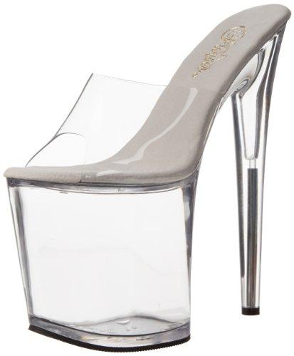 Pleaser Flamingo-801 - Zapatos de vestir de sintético para mujer, color Transparente (Transparent (Clr/Clr)), talla 35 EU
