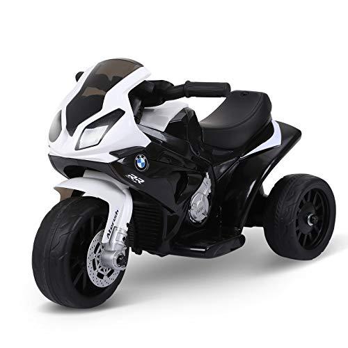 HOMCOM Moto Eléctrica Infantil con Licencia BMW S1000RR Trimoto para...
