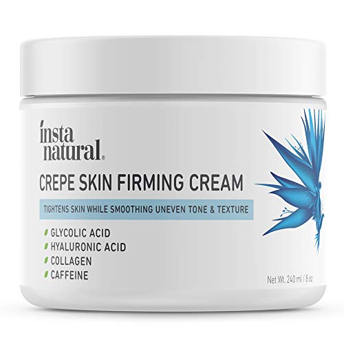Crepe Firming Cream for Neck, Chest, Legs & Arms  Tightening & Lifting, Anti-Aging, Anti-Wrinkle, Collagen Skin Repair Treatment - Made With Hyaluronic Acid, Alpha Hydroxy & Caffeine  8 oz