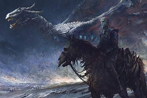 Spetich Game of Thrones Puzzle in Legno 1000 Pezzi White Walkers And Dragon Adulti Adolescenti...
