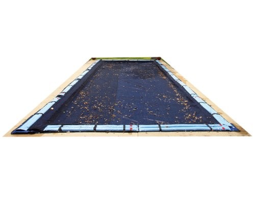 Blue Wave BWC570 25-ft x 45-ft Rectangular Leaf Net In Ground Pool Cover,Black