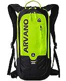 Arvano Mountain Bike Backpack Small Cycling Backpack Biking Daypack Lightweight Breathable Ski Rucksack 6l Running Bag MTB Bicycle Skiing Riding Day Hiking Snowboarding Climbing Men Women (Yellow)