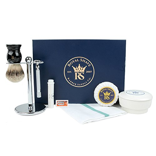 RoyalShave DE Safety Razor Shaving Set
