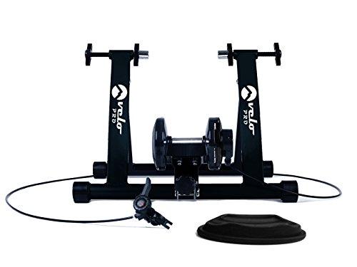 Velo Pro Rollentrainer für Rennräder und Mountainbikes, magnetischer Rollentrainer mit variablem Widerstand für Indoor Cycling