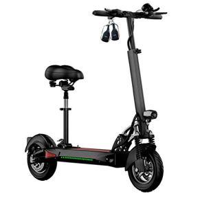 Plegable para adultos Scooter eléctrico, Vespa al aire libre con función de carga USB, 10 pulgadas Pneumatic Tire 48V…